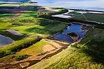 Nederland, Zeeland, Gemeente Terneuzen, 09-05-2013; Braakmanpolder met Noorderbosschen, voormalige zeearm. Links boven het midden de Paulinapolder, Westerschelde aan de horizon.<br /> Nature reserve and recreation area Braakman polder, a former estuary , top picture the Westerschelde (Zeeland).<br /> luchtfoto (toeslag op standard tarieven)<br /> aerial photo (additional fee required)<br /> copyright foto/photo Siebe Swart