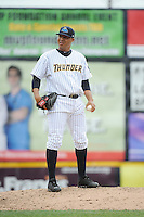 Trenton Thunder pitcher Cesar Cabral (53) during the game against the Harrisburg Senators at ARM & HAMMER Park on May 21, 2014 in Trenton, New Jersey.  Harrisburg defeated Trenton 9-0.  (Tomasso DeRosa/Four Seam Images)