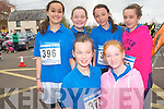 Participants in the Currow fun run on Friday last to introduce local primary school children to running. .Front L-R Erica Cahill and Aine Carey .Back L-R Aisling Teahan, Kayla and Niamh O'Connor and Sadhbh Daly.