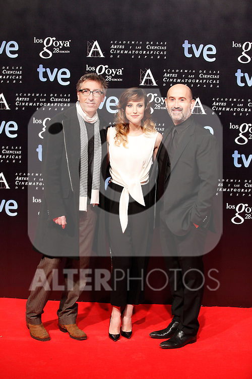 David Trueba, Natalia de Molina and Javier Camara attends the Goya Awards nominee party at Canal Theater in Madrid, Spain. January 20, 2014. (ALTERPHOTOS/Victor Blanco)