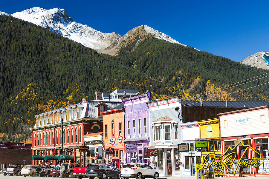 Silverton Colorado, an old mining town in the San Juan Mountains of southwestern Colorado. Today Silverton has found the real treasure in tourism.