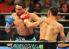 Danny Garcia, left, takes a punch from Brooklyn native Paulie Malignaggi in the main event during a 12-round Premier Boxing Champions match at the Barclays Center on Saturday, August 1, 2015. Garcia won the bout by TKO in the ninth round. <br /> <br /> James Escher