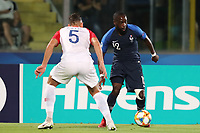 Nikola Katic of Croatia and Jonathan Ikone of France compete for the ball<br /> Serravalle 21-06-2019 Stadio San Marino Stadium <br /> Football UEFA Under 21 Championship Italy 2019<br /> Group Stage - Final Tournament Group C<br /> France - Croatia<br /> Photo Cesare Purini / Insidefoto