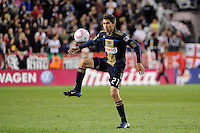 Michael Farfan (21) of the Philadelphia Union. The New York Red Bulls defeated the Philadelphia Union  1-0 during a Major League Soccer (MLS) match at Red Bull Arena in Harrison, NJ, on October 20, 2011.