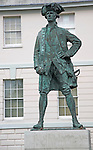 Statue of James Cook, outside National Maritime Museum, Greenwich, London, England