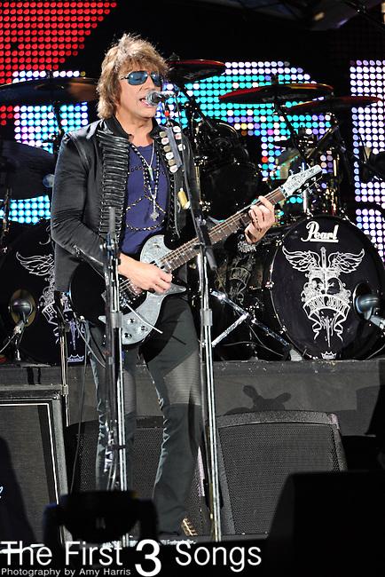 Richie Sambora, guitarist for Bon Jovi, performs at Soldier Field in Chicago, Illinois on July 31, 2010.