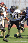 Torrance, CA 09/05/13 - Mark Pilato (Peninsula #71) in action during the Peninsula vs North Junior Varsity football game played at North High School in Torrance, California.
