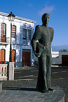 Spanien, Kanarische Inseln, La Palma, Denkmal der Emigranten in Mazo