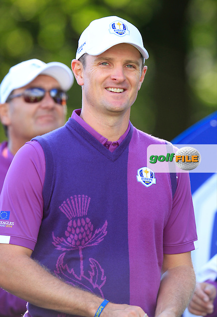 Justin Rose (EUR) during Practice on Wednesday at the 40th Ryder Cup, The Gleneagles Hotel, Perthshire from 26th to 28th September 2014<br /> Picture Eoin Clarke, www.golffile.ie