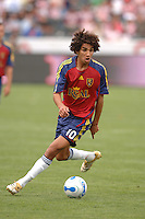 Real Salt Lake's Mehdi Ballouchy moves the ball up field against CD Chivas in the first half at the Home Depot Center in Carson, CA on Saturday night, April 2, 2006..(Matt A. Brown/ISI)