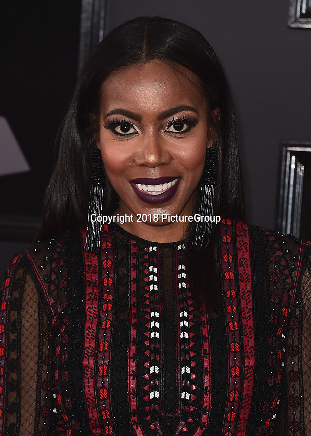 NEW YORK - JANUARY 28:  Tiffany Reid at the 60th Annual Grammy Awards at Madison Square Garden on January 28, 2018 in New York City. (Photo by Scott Kirkland/PictureGroup)