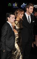LOS ANGELES, CA - MARCH 12: Josh Hutcherson, Jennifer Lawrence and Liam Hemsworth attend 'The Hunger Games' World Premiere at Nokia Theatre at LA Live on March 12, 2012 in Los Angeles, California. /NortePhoto.com<br /> <br /> **CREDITO*OBLIGATORIO** *No*Venta*A*Terceros*<br /> *No*Sale*So*third*