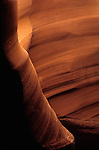 Antelope Canyon rock formations inside slot canyon Arizona State USA
