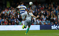 Nahki Wells of Queens Park Rangers and Darragh Lenihan of Blackburn Rovers during Queens Park Rangers vs Blackburn Rovers, Sky Bet EFL Championship Football at Loftus Road Stadium on 5th October 2019
