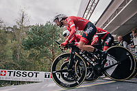Julien Bernard (FRA/Trek-Segafredo) rolling off the start ramp<br /> <br /> UCI MEN'S TEAM TIME TRIAL<br /> Ötztal to Innsbruck: 62.8 km<br /> <br /> UCI 2018 Road World Championships<br /> Innsbruck - Tirol / Austria