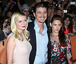Kirsten Dunst, Garrett Hedlund , and Kristen Stewart  attending the The 2012 Toronto International Film Festival.Red Carpet Arrivals for 'On The Road' at the Ryerson Theatre in Toronto on 9/6/2012