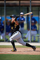 Pittsburgh Pirates first baseman Hunter Owen (41) follows through on a swing during a Florida Instructional League game against the Toronto Blue Jays on September 20, 2018 at the Englebert Complex in Dunedin, Florida.  (Mike Janes/Four Seam Images)