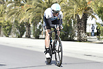 Christopher Froome (GBR) Team Sky does a recon of the course before the start of Stage 7 of the 53rd edition of the Tirreno-Adriatico 2018 a 10km individual time trial around San Benedetto del Tronto, Italy. 13th March 2018.<br /> Picture: LaPresse/Fabio Ferrari   Cyclefile<br /> <br /> <br /> All photos usage must carry mandatory copyright credit (&copy; Cyclefile   LaPresse/Fabio Ferrari)