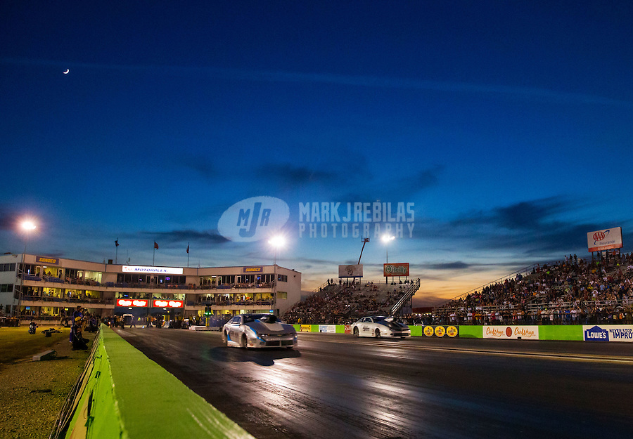 Oct 16, 2015; Ennis, TX, USA; Overall view of the Texas Motorplex as NHRA pro stock drivers race during qualifying for the Fall Nationals at the Texas Motorplex. Mandatory Credit: Mark J. Rebilas-USA TODAY Sports