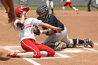 SAN ANTONIO, TX - APRIL 28, 2012: The Nicholls State University Colonels vs. The University of Texas at San Antonio Roadrunners Softball at Roadrunner Field. (Photo by Jeff Huehn)