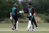 H Afzal and H Ikram of Harold Wood during Gidea Park and Romford CC vs Harold Wood CC, Shepherd Neame Essex League Cricket at Gidea Park Sports Ground on 6th July 2019