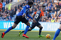 Bersant Celina of Swansea City (R) in action during the Sky Bet Championship match between Sheffield Wednesday and Swansea City at Hillsborough Stadium, Sheffield, England, UK. Saturday 23 February 2019