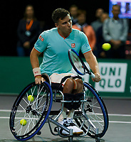 Rotterdam, The Netherlands, 9 Februari 2020, ABNAMRO World Tennis Tournament, Ahoy, Wheelchair: Jef Vandrope (BEL), Stephane Houdet (FRA) / Gordon Reid (GBR), Stefan Olsson (SWE).<br /> Photo: www.tennisimages.com