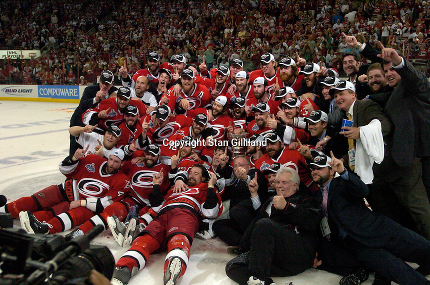 The Carolina Hurricanes beat the Edmonton Oilers 3-1 in game seven to take the Stanley Cup at the RBC Center in Raleigh, NC Monday, June 19, 2006.