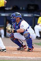 March 21, 2010:  Catcher Luke Montz (91) of the New York Mets during a Spring Training game at Tradition Field in St. Lucie, FL.  Photo By Mike Janes/Four Seam Images