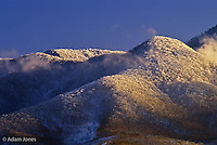 Snow covered sunset, Roundtop, Great Smoky Mountains National Park, Tennessee