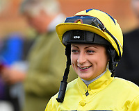 Jockey Nicola Currie during Afternoon Racing at Salisbury Racecourse on 4th October 2017