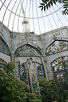 The tomb of the Sultan Valide at the Yeni Valide Mosque in Uskudar, Istanbul, Turkey