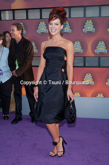Kate Beckinsale arrives at the 2002 MTV movie Awards at the Shrine Auditorium in Los Angeles. June 1, 2002.