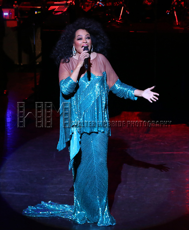 Diana Ross performing 'Endless Memories' in concert at City Center on April 29, 2017 in New York City.