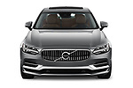 Car photography straight front view of a 2018 Volvo S90 Inscription PHEV T8 AWD 4 Door Sedan