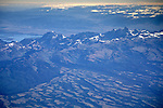 Aerial over the Grand Tetons, Teton Range, and Targhee Nat. Forest, WYOMING