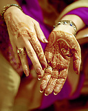 INDIA, New Delhi, henna design on woman's hand, Indian wedding, New Delhi