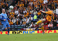 Jamie Murphy crossing the ball