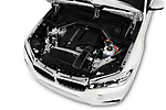 Car Stock 2017 BMW X6 M-sportpakket 5 Door SUV Engine  high angle detail view