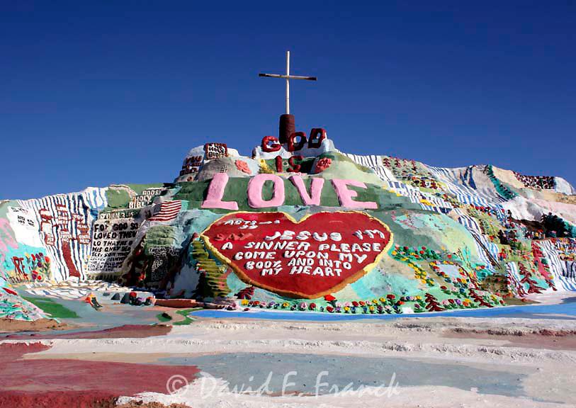 Salvation Mountain art installation near the Salton Sea in CA