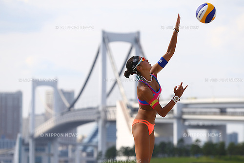 Chiyo Suzuki,<br /> SEPTEMBER 21, 2015 - Beach Volleyball : <br /> JBV Tour 2015 Tokyo Open<br /> Women's Final<br /> at Odaiba Beach, Tokyo, Japan.<br /> (Photo by Shingo Ito/AFLO SPORT)