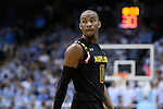 01 December 2015: Maryland's Rasheed Sulaimon. The University of North Carolina Tar Heels hosted the University of Maryland Terrapins at the Dean E. Smith Center in Chapel Hill, North Carolina in a 2015-16 NCAA Division I Men's Basketball game. UNC won the game 89-81.