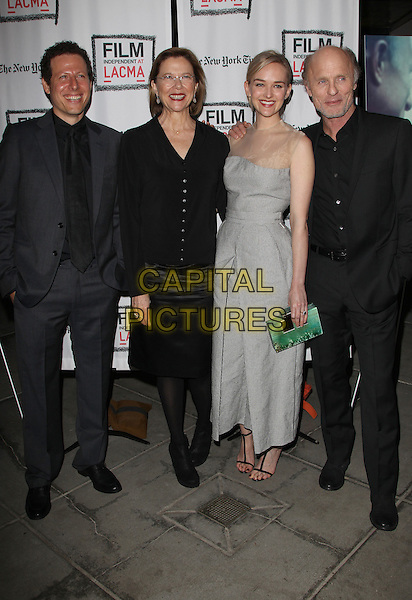 3 March 2014 - Los Angeles, California - Arie Posin, Annette Bening, Jess Weixler, Ed Harris. &ldquo;THE FACE OF LOVE&rdquo; Premiere Screening Held at LACMA. <br /> CAP/ADM/FS<br /> &copy;Faye Sadou/AdMedia/Capital Pictures