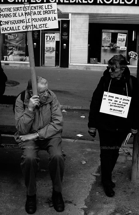 19.10.2010 Paris (&Atilde;&reg;le de france)<br /> <br /> Manifestation contre la r&Atilde;&copy;forme des retraites.<br /> <br /> Protest against pension reform.