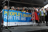 Peoples March for the NHS - Central London, Saturday 6th Sept 2014 - <br /> <br /> The 300 mile marcher's <br /> <br /> <br /> Photographer: Jeff Thomas - Jeff Thomas Photography - 07837 386244/07837 216676 - www.jaypics.photoshelter.com - swansea1001@hotmail.co.uk