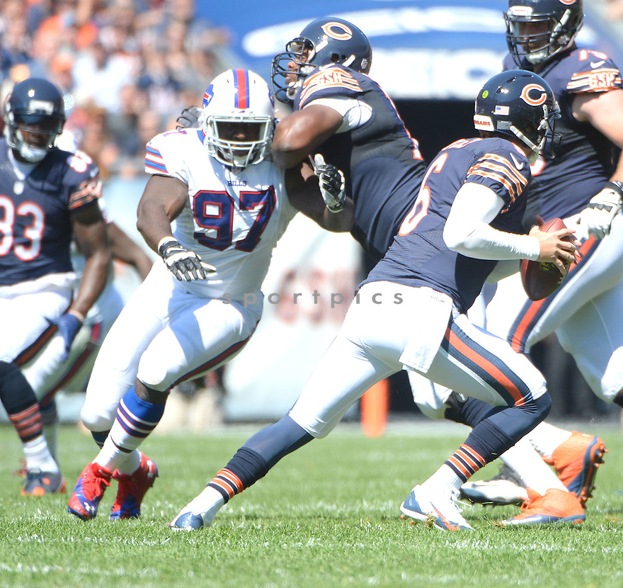 Buffalo Bills Corbin Bryant (97) during a game against the Chicago Bears on September 7, 2014 at Soldier Field in Chicago, IL. The Bills beat the Bears 23-20.