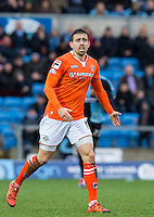 Oliver Lee of Luton Town during the Sky Bet League 2 match between Wycombe Wanderers and Luton Town at Adams Park, High Wycombe, England on 6 February 2016. Photo by Andy Rowland.