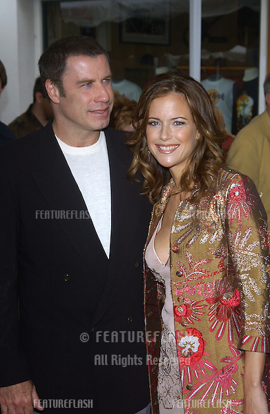 Actress KELLY PRESTON & husband actor JOHN TRAVOLTA at the world premiere, in Hollywood, of her new movie Dr. Suess' The Cat in the Hat..November 8, 2003