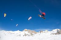 Snowkite au Col du Lautaret - French Alpes