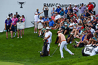 Rickie Fowler (USA) chips on to 17 during Rd4 of the 2019 BMW Championship, Medinah Golf Club, Chicago, Illinois, USA. 8/18/2019.<br /> Picture Ken Murray / Golffile.ie<br /> <br /> All photo usage must carry mandatory copyright credit (© Golffile | Ken Murray)